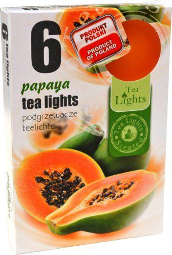 Čajová svíčka - papaya