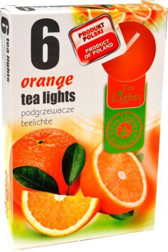 Čajová svíčka - pomeranč