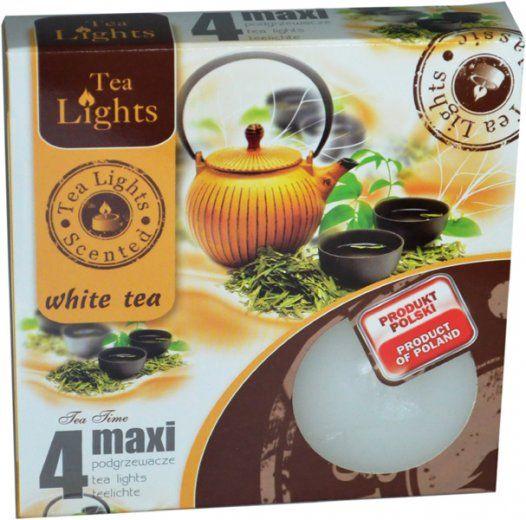 Maxi čajová svíčka - bílý čaj