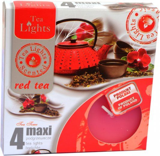 Maxi čajová svíčka - červený čaj