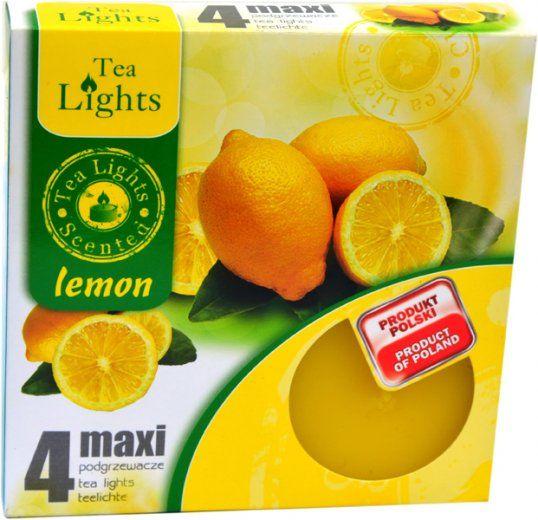 Maxi čajová svíčka - citron