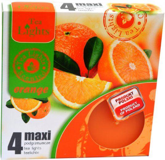 Maxi čajová svíčka - pomeranč