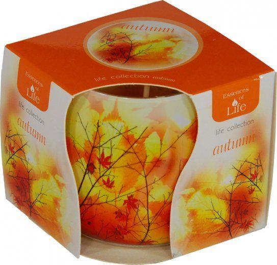 Svíčka ve skle - podzim