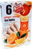 Čajová svíčka -  zázvor/pomeranč