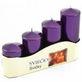 Ad. svíčky II - fialová tm.