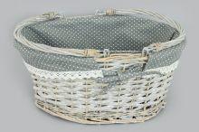 Košík proutěný šedý
