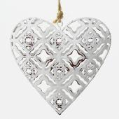 Srdce kovové - bílá
