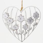 Srdce kovové - květiny
