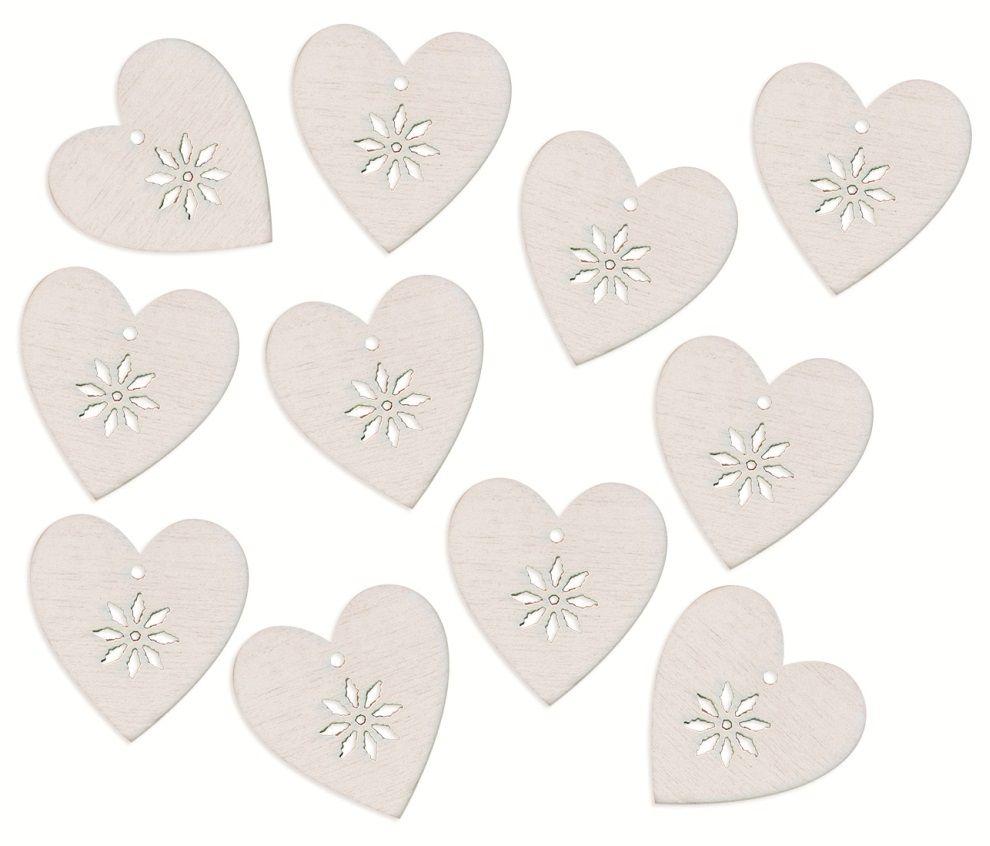 Srdce - dřevěná dekorace