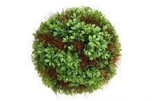 Koule dekorační - zelenohnědá