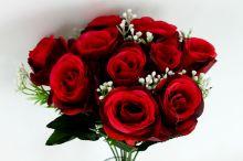 Růže x10 - červená