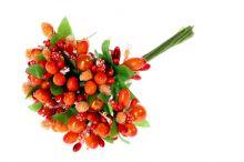 Přízdoby s perličkou x12 - oranžová