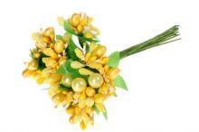 Přízdoby s perličkou x12 - žlutá
