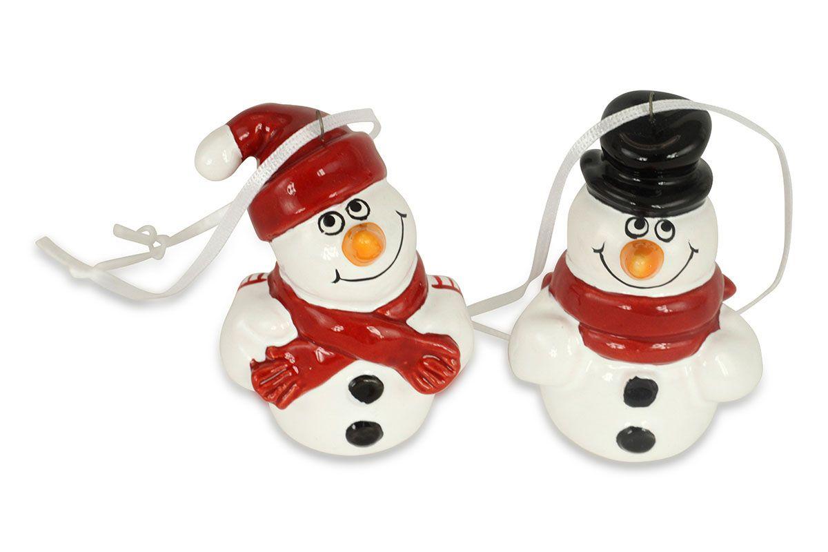 Sněhulák - keramická dekorace