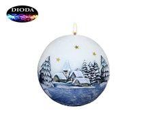 Svíčka koule (LED) - bílo-modrá