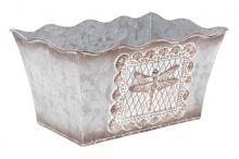 Kovový truhlík - šedá