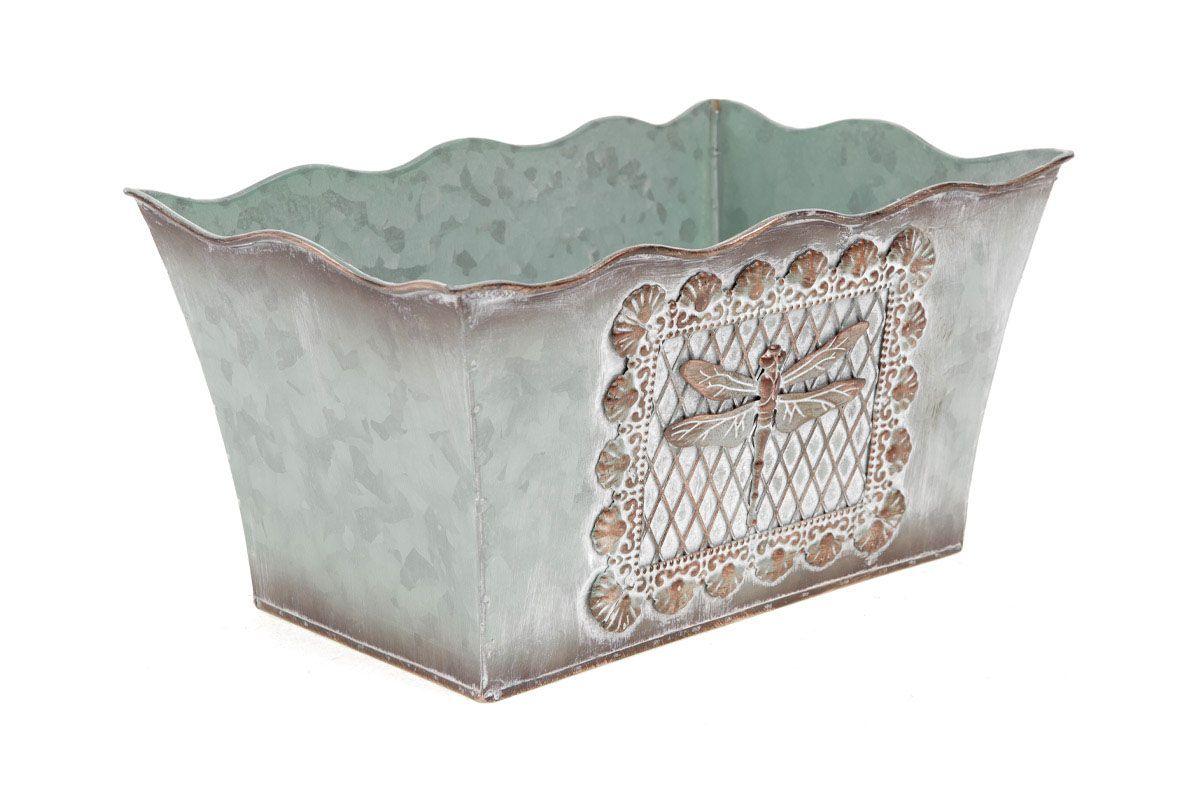 Truhlík - kovová dekorace