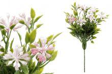 Kytičky zápich - bílo-růžová