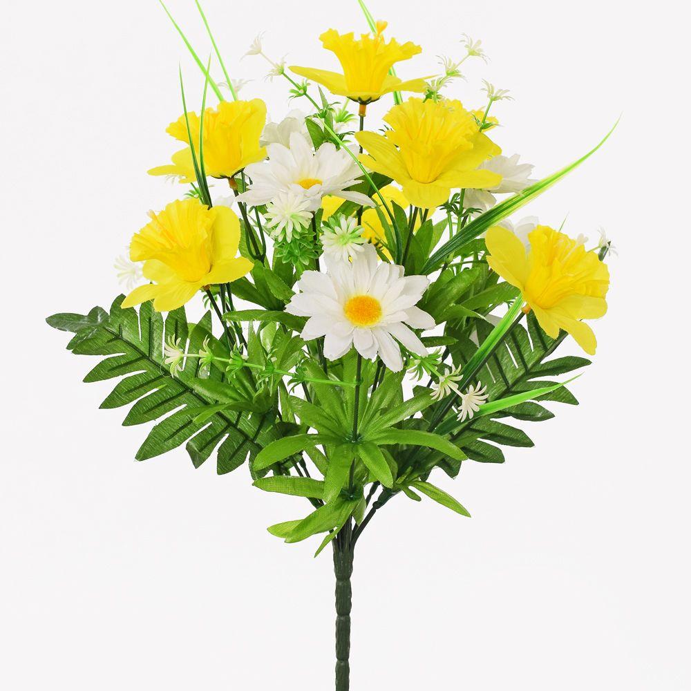 Narcis + kopretina - umělá květina