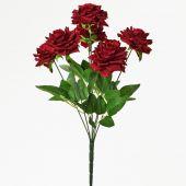Růže x7 - bordó