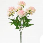 Růže x7 - sv. růžová