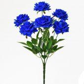 Růže x7 - tm. modrá