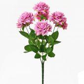 Růže x7 - tm. růžová