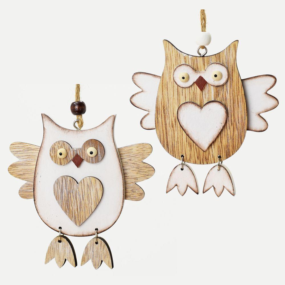 Sova - dřevěná dekorace