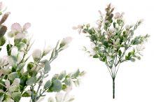Zeleň trs x5 - růžovo-bílá