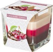 Svíčka ve skle - čokoláda višeň