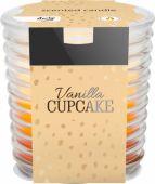 Svíčka ve skle - vanilkový košíček