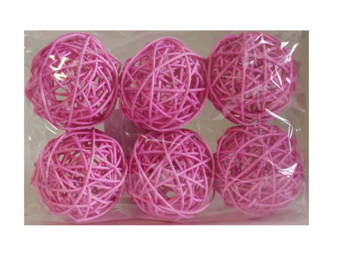 Ratanové koule růžové