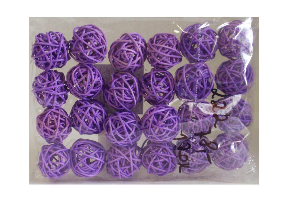 Ratanové kuličky fialové