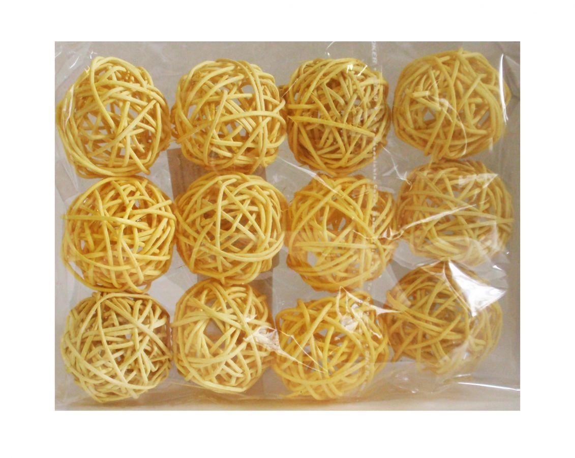 Ratanové koule žluté