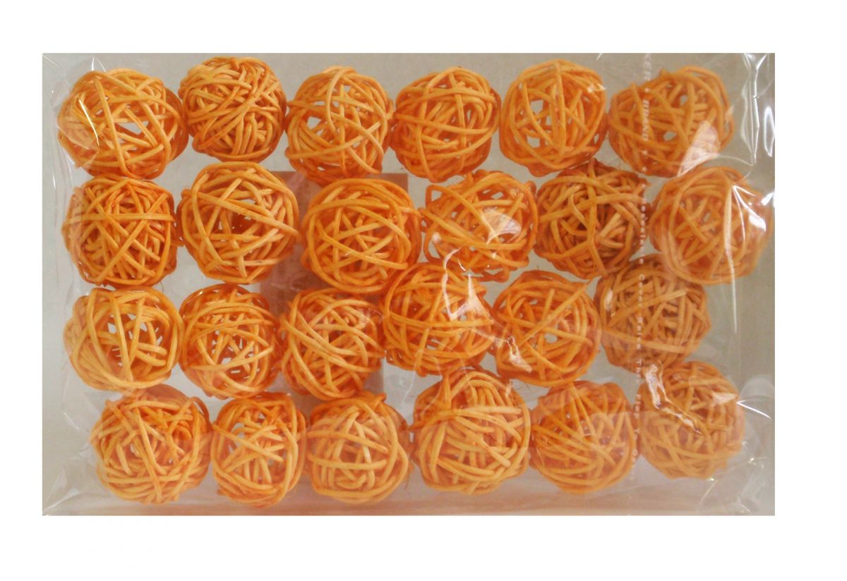 Ratanové kuličky oranžové