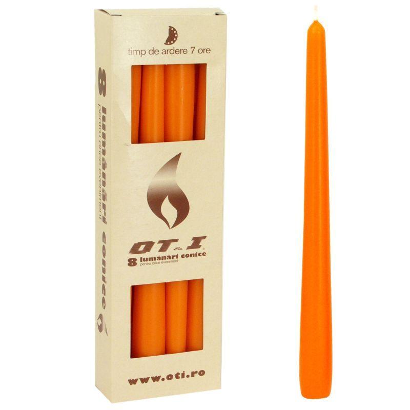 Svíčka kónická - oranžová