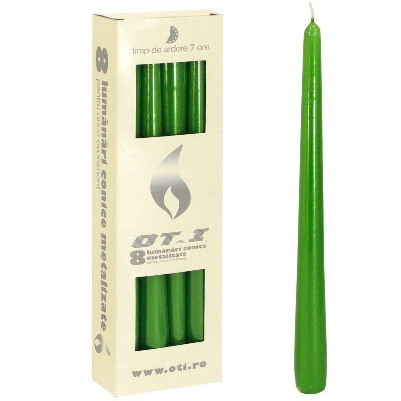 Svíčka kónická - zelená