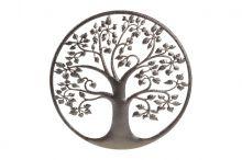 Strom života kovový - hnědá
