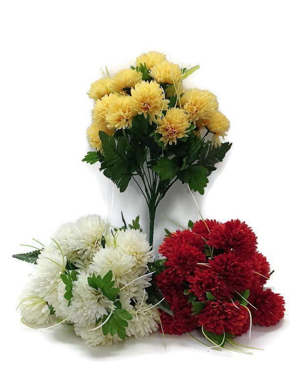 Chryzantéma x18 - umělá květina
