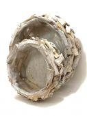 Kruh dřevěný - obal na květiny