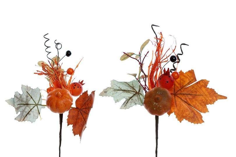Zápich dýně - podzimní dekorace