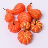 Malé dýňky - podzimní dekorace. MIX tvarů a velikostí (2,5 - 5 cm).