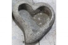 Obal na květiny srdce - betonová dekorace