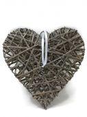 Srdce - proutěná dekorace