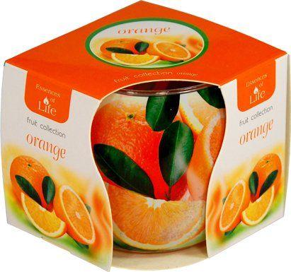 Svíčka ve skle - pomeranč