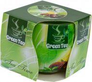 Svíčka ve skle - zelený čaj