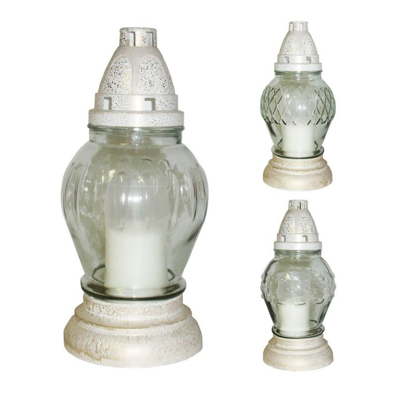 Hřbitovní svíce sklo