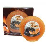 Ovál - čokoláda/pomeranč