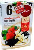 Čajová svíčka - jahoda/vanilka